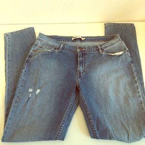{Levis} Light Distressed Skinny Jeans